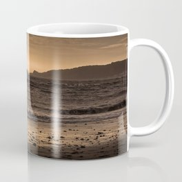 Swansea bay and Mumbles lighthouse Coffee Mug