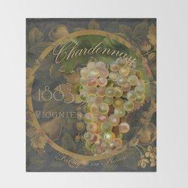 Wines of France Chardonnay Throw Blanket