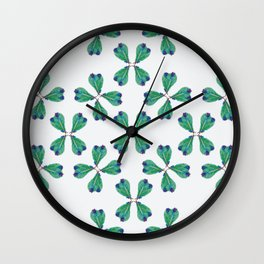 Feather Fan pattern Wall Clock