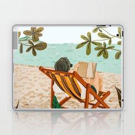 Vacay Book Club #illustration #tropical Laptop & iPad Skin