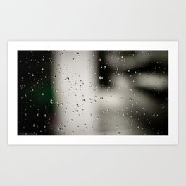 Rain bulles Art Print