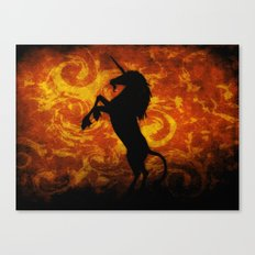 Dark Unicorn II Canvas Print