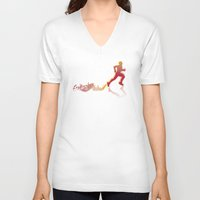 runner V-neck T-shirts featuring RUNNER by FoOlRusN