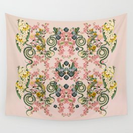 Where lizards live-Pink Wall Tapestry