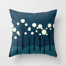 Moon Forest Throw Pillow