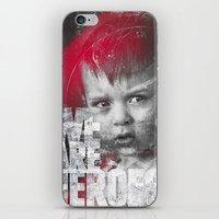 toddler iPhone & iPod Skins featuring Hero Sessions III by HappyMelvin