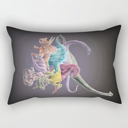 Rainbow Dinosaurs Rectangular Pillow
