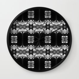 A B&W photo of a tower in Barcelona at night makes Man Made Pattern 1 Wall Clock