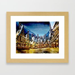 Wintry Hogsmeade Framed Art Print