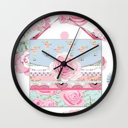 My Shabby Chic purse celebration Wall Clock