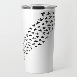 Flock of Birds // black Travel Mug