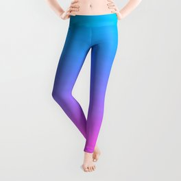 Turquoise Hot Pink Focal Point Leggings