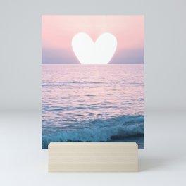 My Heart on the Sea Mini Art Print
