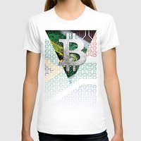 south africa T-shirts featuring bitcoin South Africa by seb mcnulty