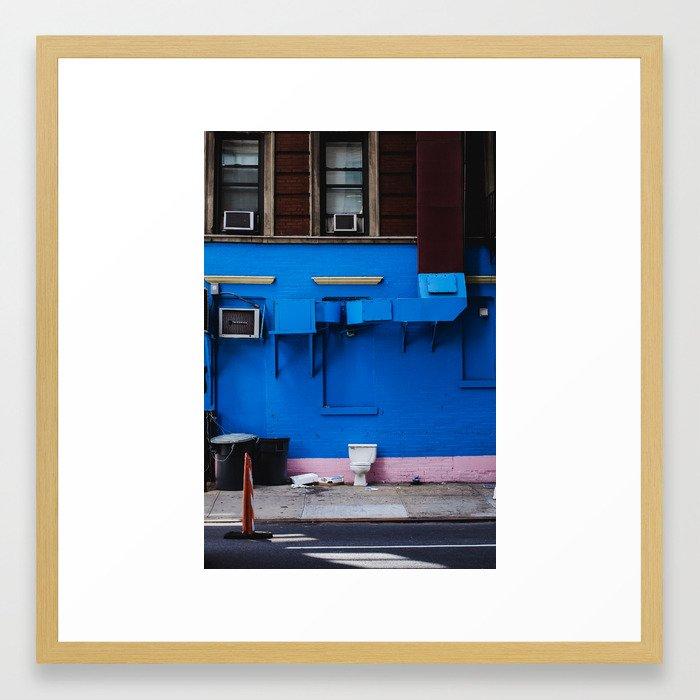 No Privacy Framed Art Print