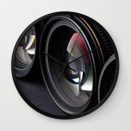 Photo lenses Wall Clock