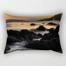 Purple & Gold Sunrise Rectangular Pillow