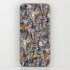 Gemstone Cats - Gold iPhone & iPod Skin