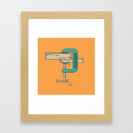 Clamp stamp Framed Art Print