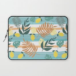 Botanical Collage With Stripes Laptop Sleeve