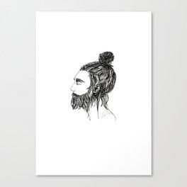Peaceful Beard Man Canvas Print