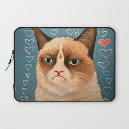 Grumpy Cat ... Love You Laptop Sleeve