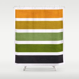 Olive Green & Hazel Brown Geometric Pattern Shower Curtain