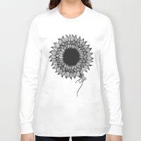 sunflower Long Sleeve T-shirts featuring Sunflower by kocha studio™