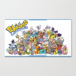 Pokémon - Gotta derp 'em all! - Group photo Canvas Print