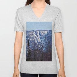 Mountain Crevasses Unisex V-Neck