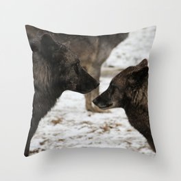 Wolves I  Throw Pillow