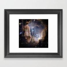 Watching The Universe Framed Art Print