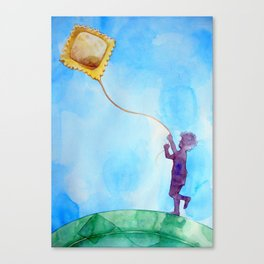 Lith of Food Canvas Print