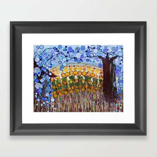 :: Indiana Blue Willow :: Framed Art Print