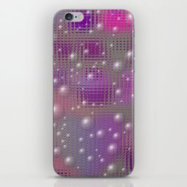Disco made of purple bubbles iPhone Skin