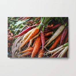 Colorful Carrots Metal Print