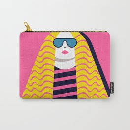 Woman with Long Hair Carry-All Pouch