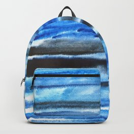 blue brush stroke Backpack