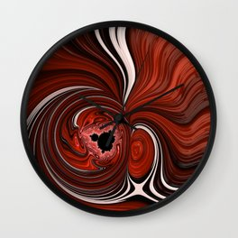 Heart of the Mandelbrot - Fractal Art Wall Clock