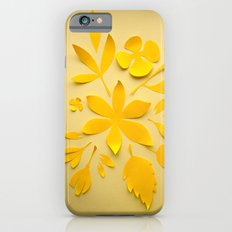 Floral cutout illustration in yellow iPhone 6s Slim Case