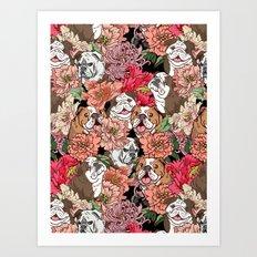 Because English Bulldog Art Print