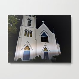 Church under the Lights Metal Print