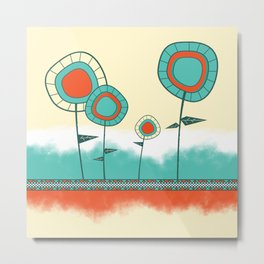 Four Wild Flowers Metal Print