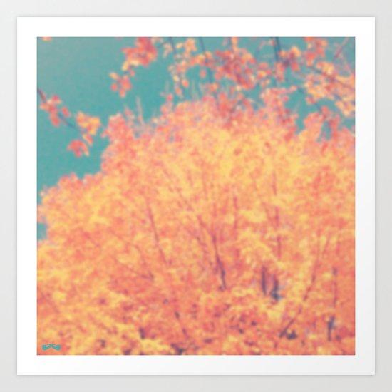 Autumnal Burst. Art Print