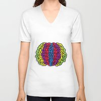 afro V-neck T-shirts featuring Circus Afro! Circus Afro!  by Brieana