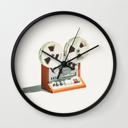 LO-FI GOES 3D - Reel 2 Reel Wall Clock