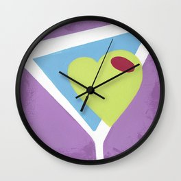 Love Martini Wall Clock