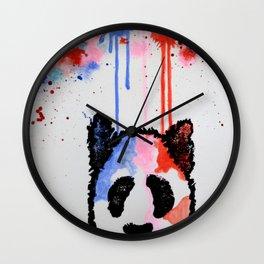 Rogue Panda -I Thought Painting Wall Clock