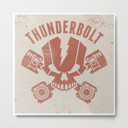 thunderboltGreyV4 Metal Print