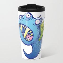 Terrific winged little blue monster Travel Mug